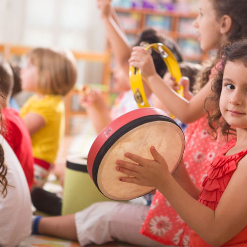Music for the kids… Pilates for mum